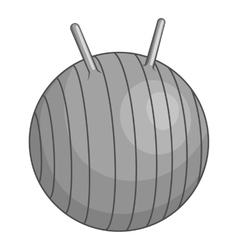 Fitball icon gray monochrome style vector