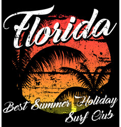 Florida - concept in vintage graphic style for vector