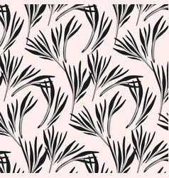 flower power texture modern pink black vector image