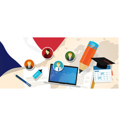 france education school university concept with vector image