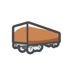 Freight truck simple icon cartoon vector