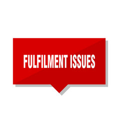 Fulfilment issues red tag vector