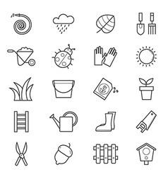 Garden Icons Line vector image