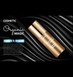 Golden bottle moisturizer splendid poster ads vector