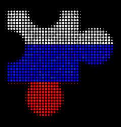Halftone russian plugin icon vector