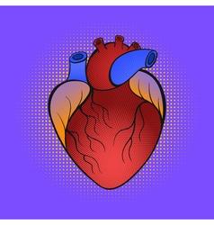 Hand drawn pop art of heart vector