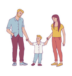 happy family with young couple vector image