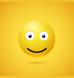 happy smiling emoticon with opened eyes and mouth vector image