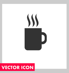 hot coffee icon vector image