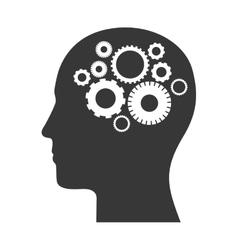 Human head profile vector