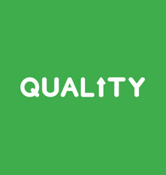 icon concept of quality word with arrow moving up vector image