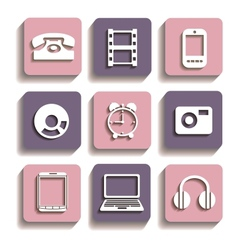 Icons of different vector image