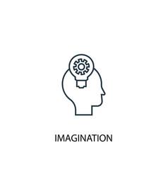 imagination concept line icon simple element vector image
