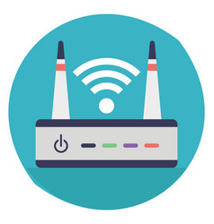 Internet router vector