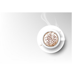 Isolated cup coffee collection cappuccino vector