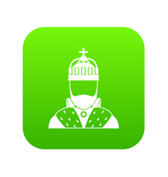 King icon digital green vector