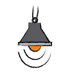 Lamp bulb light ceiling decoration icon vector