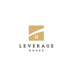 leverage house home logo icon vector image
