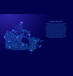Map canada from printed board chip and radio vector