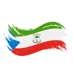 national flag of equatorial guinea designed using vector image