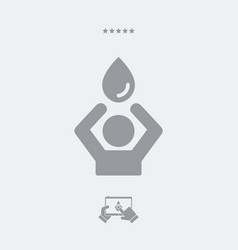 need for water - web icon vector image