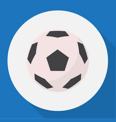 Of healthy symbol on football vector