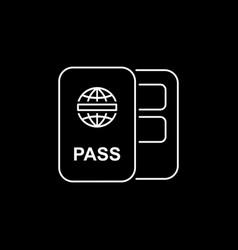 Passport icon flat style simple vector