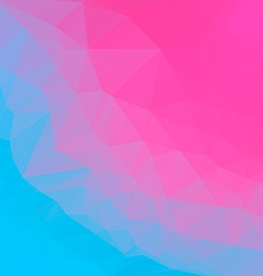 Pink blue abstract polygonal background mosaik vector image