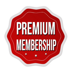 premium membership label or sticker vector image