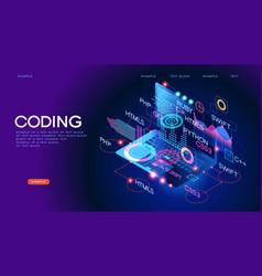 Programming web banner vector