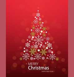 red defocused background with christmas tree vector image