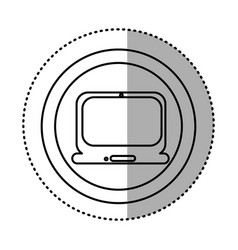 Round symbol technology laptop service icon vector