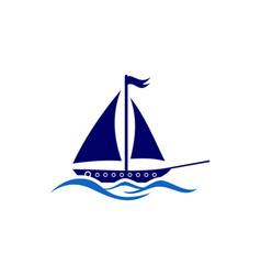 sailing ship in a ocean vector image