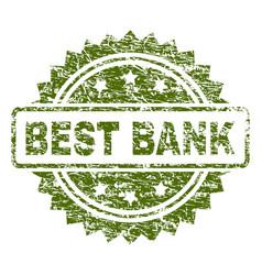 Scratched textured best bank stamp seal vector
