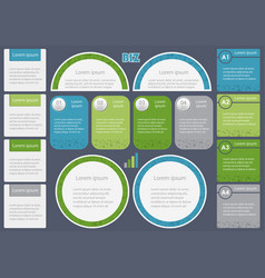 Set of assorted inforgraphic templates vector