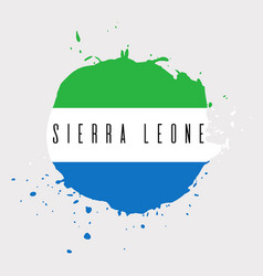 Sierra leone watercolor national country flag vector