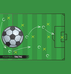 soccer game strategy plan football background vector image
