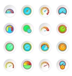 Speedometer icons set vector