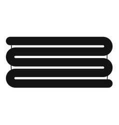 stacked towel icon simple style vector image