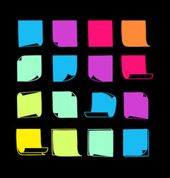 sticky notes collection-08 vector image