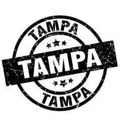 Tampa black round grunge stamp vector