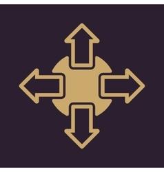 The navigation icon Arrows symbol Flat vector