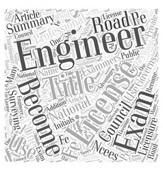 The Road To Becoming A Licensed Engineer Word vector