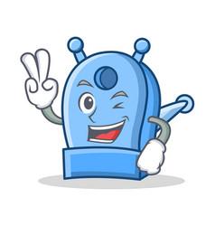 Two finger pencil sharpener character cartoon vector