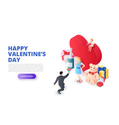 valentines day design concept with heart and vector image