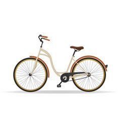 Vintage bicycle isolated on white background vector