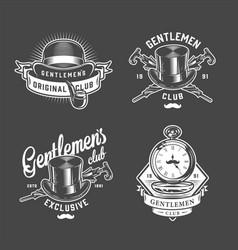 Vintage gentleman logos set vector