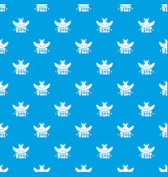 west pattern seamless blue vector image