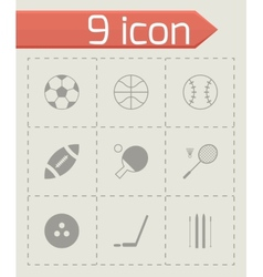 black sport icons set vector image vector image