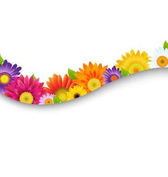 Colorful Gerbers Flowers Frame vector image vector image
